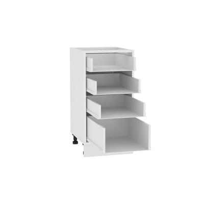 Каркас нижнего шкафа с 4-мя ящиками Н 404 Белый