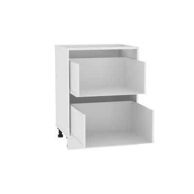 Каркас нижнего шкафа с 2-мя ящиками Н 602 Белый