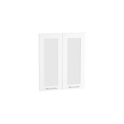 Комплект фасадов Валерия-М со стеклом Ф-45 Белый глянец