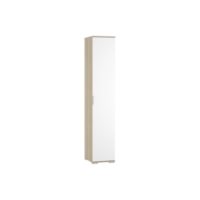 Шкаф бельевой одностворчатый Терра ШК-821 Белый глянец