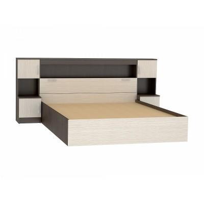 Спальня Кровать Бася КР-552 с закроватным модулем (1,6м)